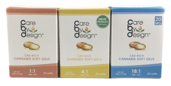 Care by Design Capsules 5ct. (1:1, 2:1, 4:1, 8:1, 18:1)| cannabisstores