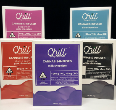 Chill Chocolate Bar 100mg THC| cannabisstores