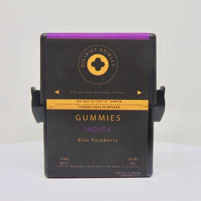 Blue Raspberry Gummies - District Edibles| cannabisstores
