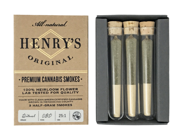Henry's 4pk Prerolled Indica| cannabisstores
