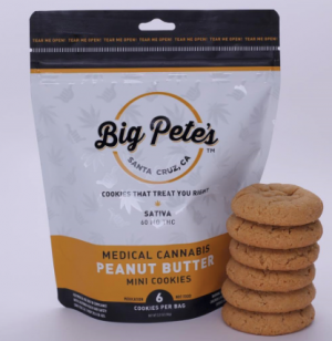 Big Pete's Sativa Peanut Butter Cookies 60mg THC
