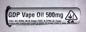 Clear Star Cartridge 500mg GDP 81.83%